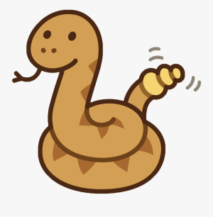 rattlesnake snake easy cartoon drawing draw aesthetic transparent become