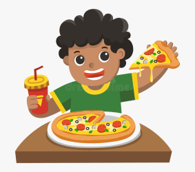 eating pizza clipart boy person illustrations graphics clipartkey