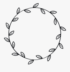 border #wreath #leaves #leaf #flower #black #ink #outlined Wreath Leaves Black And White Free Transparent Clipart ClipartKey