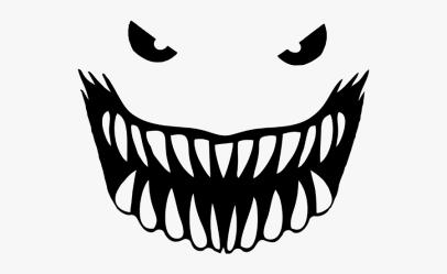 clipart teeth mouth shark monster transparent bandana pinclipart clipartkey webstockreview