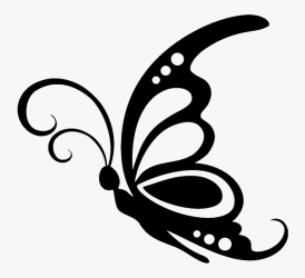 Butterfly Silhouette Stencil Clip Art Silhouette Black And White Butterfly Clipart Free Transparent Clipart ClipartKey