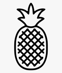 Svg Png Icon Free Easy Pineapple Outline Free Transparent Clipart ClipartKey
