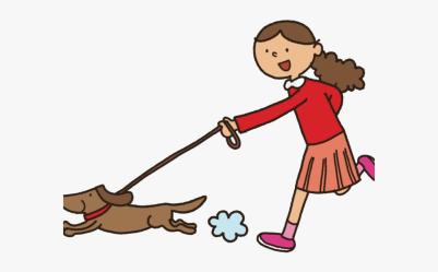 Dog Walking Clipart Walk Transparent Png Girl Walking Dog Clipart Free Transparent Clipart ClipartKey