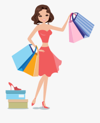 Shopping Woman Icon Women Shopping Vector Png Free Transparent Clipart ClipartKey