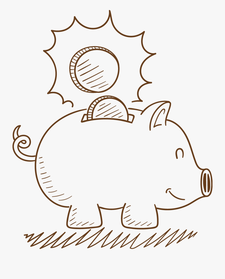 Bank Drawing Easy : drawing, Drawing, Piggy, Transparent, Clipart, ClipartKey