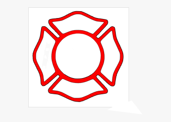 fire badge firefighter blank department fireman clipart graphic transparent hd police clipartkey pngfind