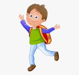 Transparent School Kid Clipart Cartoon School Student Png Free Transparent Clipart ClipartKey