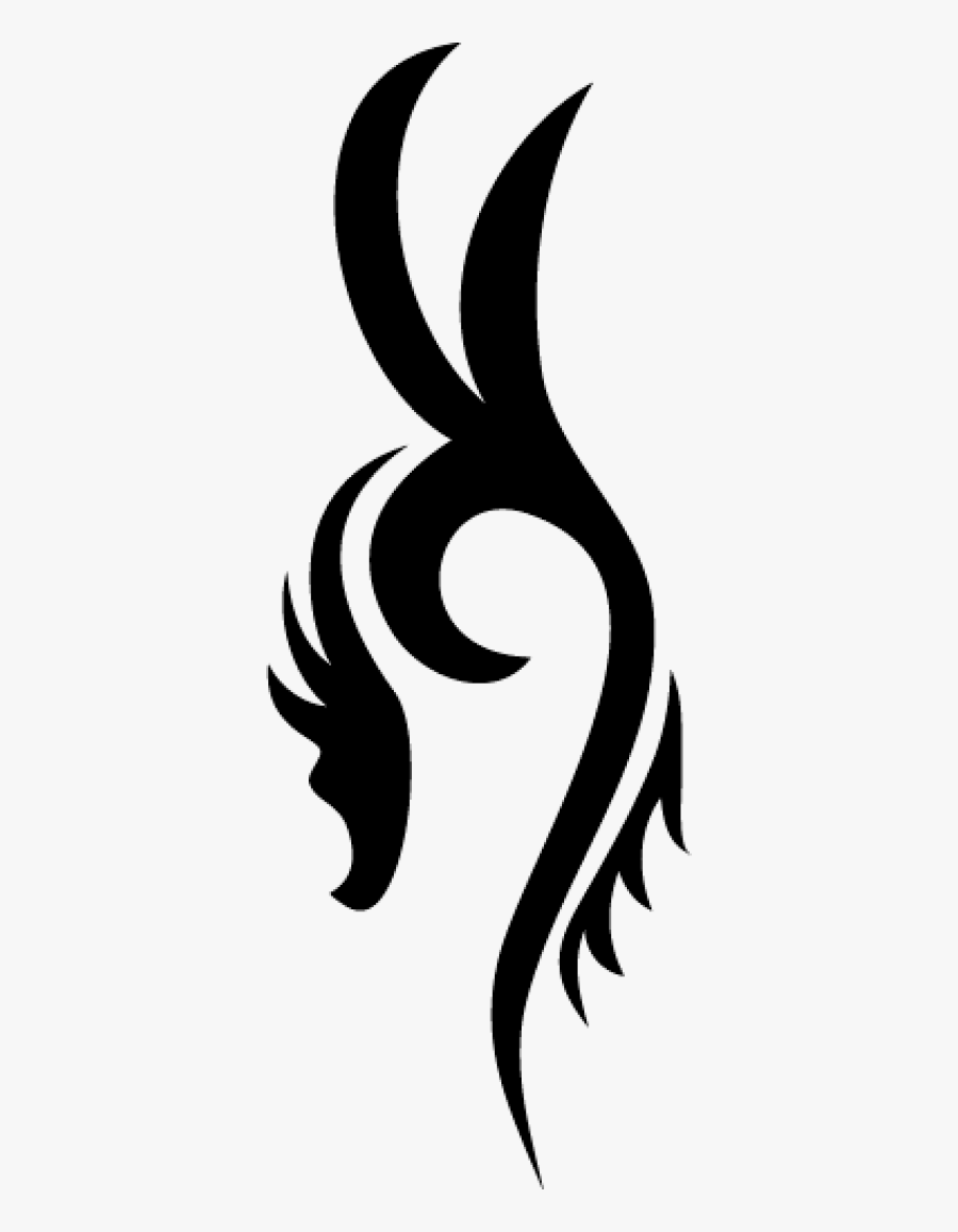 Simple Tattoo Png : simple, tattoo, Dragon, Simple, Tattoo, Transparent, Clipart, ClipartKey