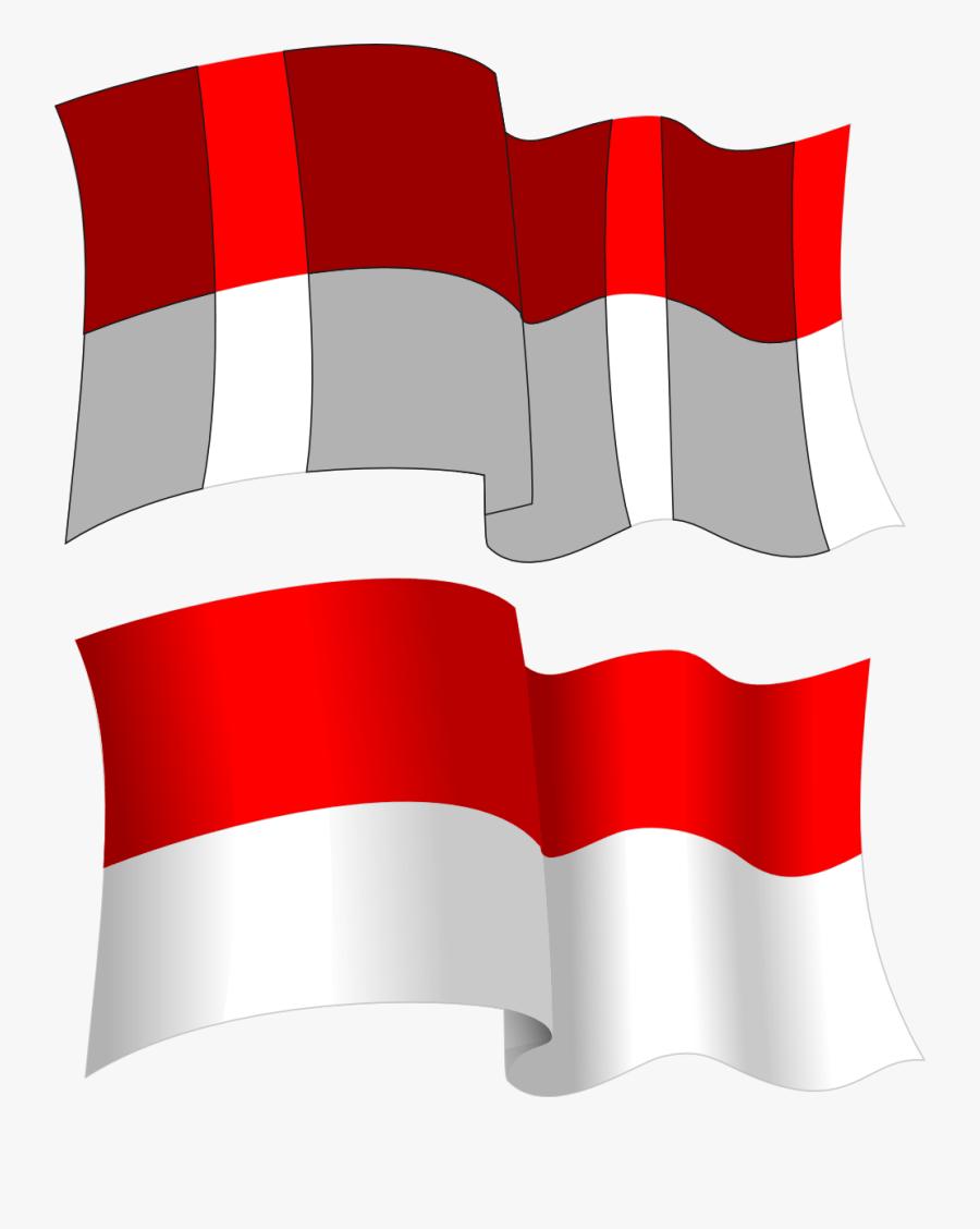 Gambar Orang Pegang Bendera Indonesia Kartun