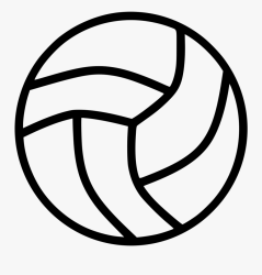 Volleyball Ball Netball Ball Black And White Free Transparent Clipart ClipartKey