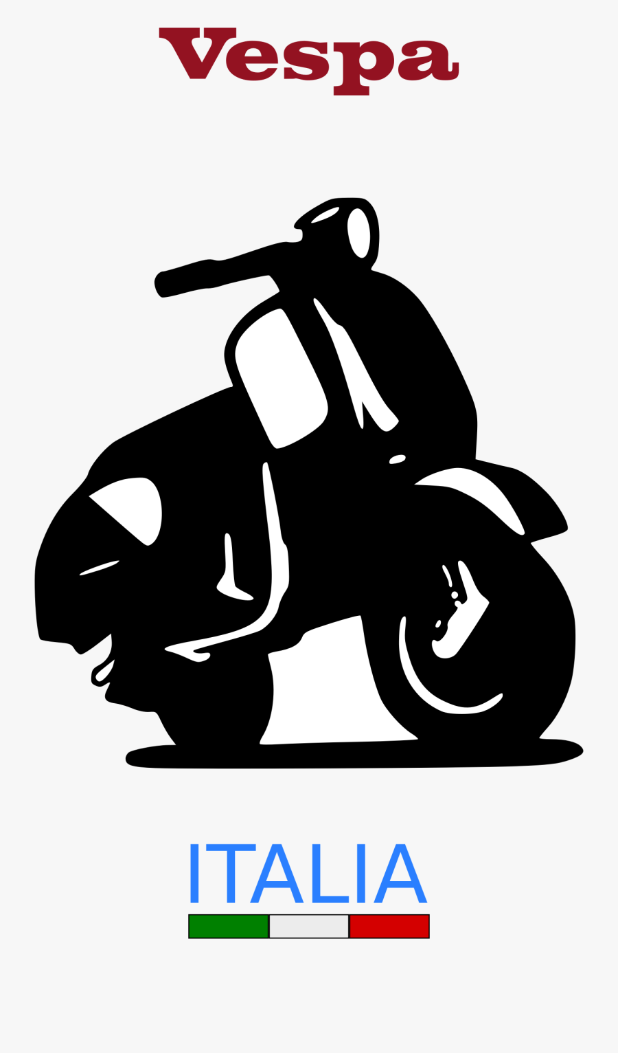 Vespa Logo Vector : vespa, vector, Vespa, Italia, Transparent, Clipart, ClipartKey