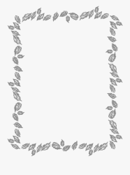 Leaf Border Clipart Black And White Free Transparent Clipart ClipartKey
