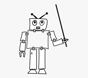 robot cool easy thinking android thought drawing teaching showing clipart clipartkey