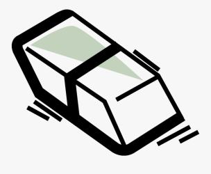 Vector Illustration Of Rubber Eraser For Erasing Marks Eraser Free Transparent Clipart ClipartKey