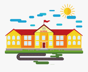School Background Cartoon Png Free Transparent Clipart ClipartKey