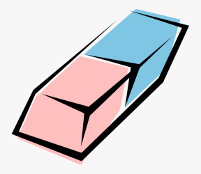 Vector Illustration Of Rubber Eraser For Erasing Marks Free Transparent Clipart ClipartKey