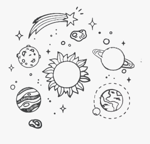 space drawing aesthetic solar system transparent clipart easy coloring webdesign ya drawings paintingvalley clipartkey inspired explore