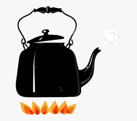 Boiling Kettle Fire Illustration Kettle Boiling Cartoon Free Transparent Clipart ClipartKey