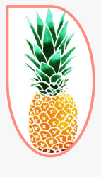 fruit #pineapple #outline #freetoedit Cartoon Pineapple Free Transparent Clipart ClipartKey