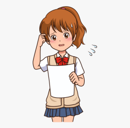 thinking clipart anime clipartkey