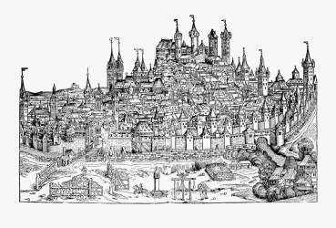 Medieval Town Drawing Michael Wolgemut And Wilhelm Pleydenwurff View Of Nuremberg Free Transparent Clipart ClipartKey