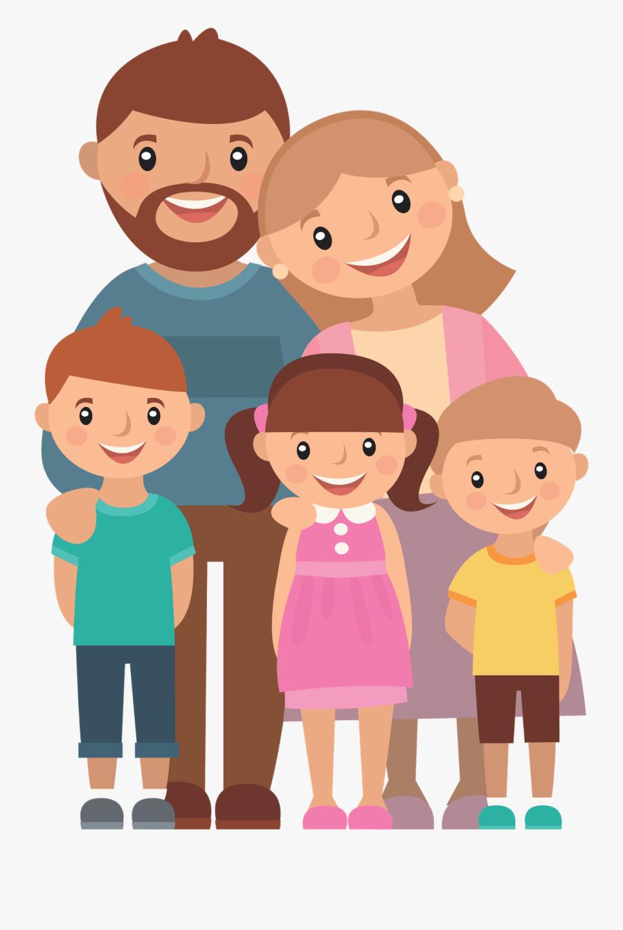 Family Photo Cartoon : family, photo, cartoon, Transparent, Family, Cartoon, Clipart, ClipartKey