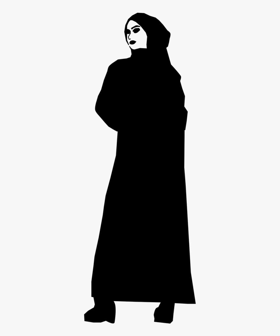 Hijab Silhouette Png : hijab, silhouette, Muslim, Silhouette, Woman, Hijab, Transparent, Clipart, ClipartKey