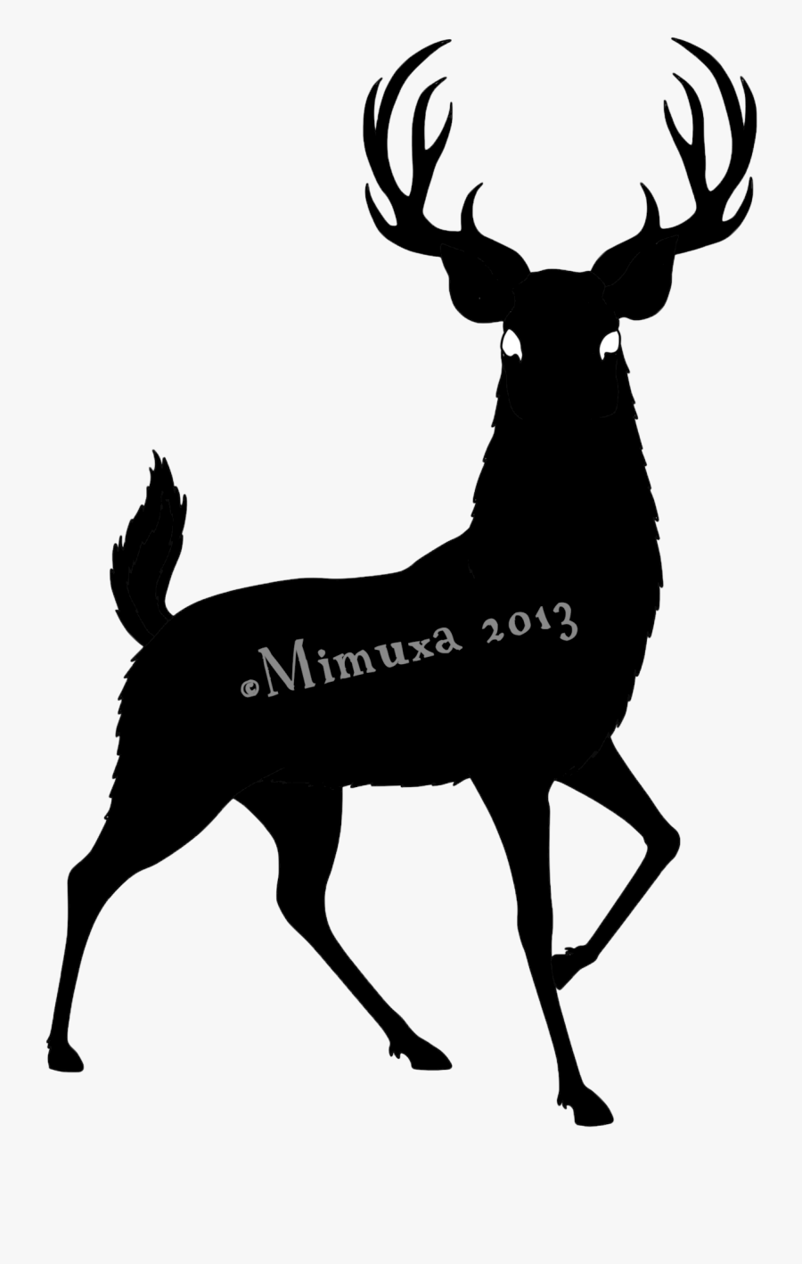 Buck Deer Clipart : clipart, Silhouette, Clipart, Download, Transparent, ClipartKey