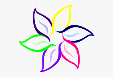 Multi Color Flower Clip Art Simple Flower Clipart Black And White Free Transparent Clipart ClipartKey