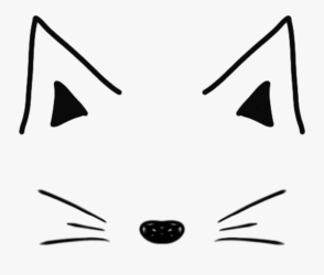 cat #mask #tumblr #doddle #black #white #simple #ftestickers Filtros Snapchat Cute Png Free Transparent Clipart ClipartKey
