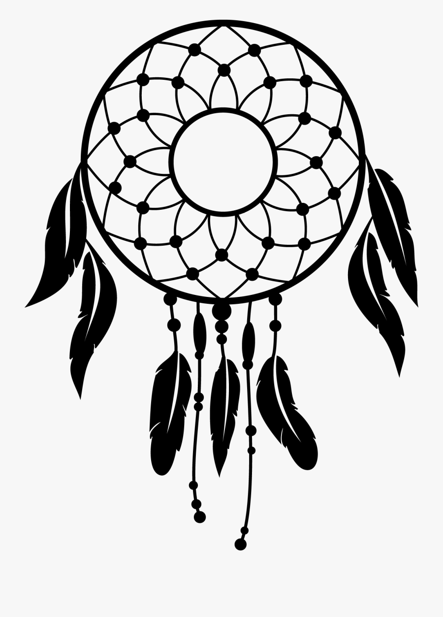 Simple Dream Catcher Drawing : simple, dream, catcher, drawing, Dream, Catchers, Decal, Simple, Catcher, Vector, Transparent, Clipart, ClipartKey