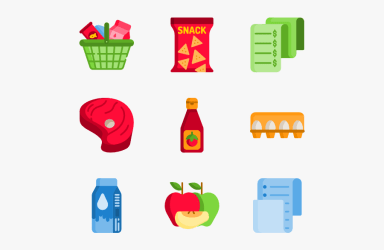 Clip Art Grocery Background Groceries Icon Png Free Transparent Clipart ClipartKey