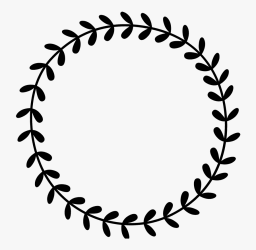 Leafy Wreath Rubber Stamp Circle Leaf Border Clipart Free Transparent Clipart ClipartKey
