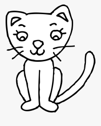 Cat Clipart Black And White Simple Cat Clipart Black And White Free Transparent Clipart ClipartKey