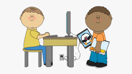 Classroom Clipart Free Clip Art Teacher And Student Student On Computer Clipart Free Transparent Clipart ClipartKey