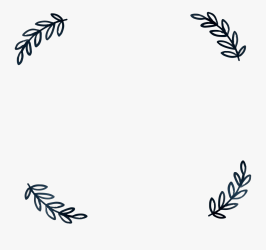 Simple Leaf Borders Png Leaf Border Clipart Black And White Free Transparent Clipart ClipartKey