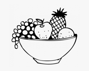 Black And White Fruit Basket Clipart Free Transparent Clipart ClipartKey