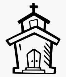 Icon Vector Church Png Clipart Black And White Stock Church Svg File Free Free Transparent Clipart ClipartKey