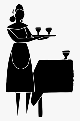 Server Servant Table Lady Silhouette Restaurant Restaurant Server Icon Png Free Transparent Clipart ClipartKey