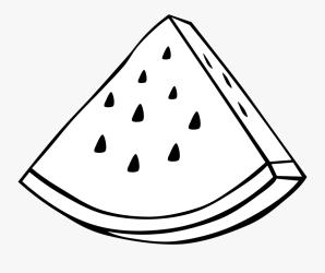 watermelon outline fruit clipart simple clipartkey