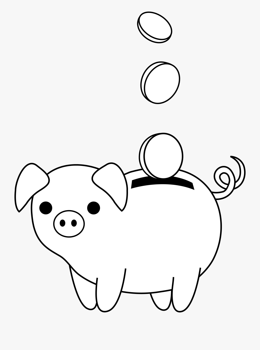 Bank Drawing Easy : drawing, Piggy, Drawing, Transparent, Clipart, ClipartKey