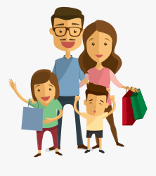 Transparent Family Clip Art Shopping Family Cartoon Png Free Transparent Clipart ClipartKey