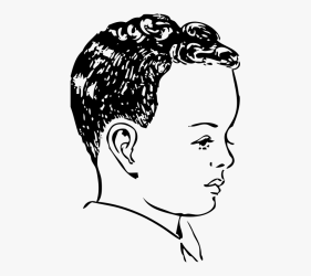 Curly Hair Clipart Black And White