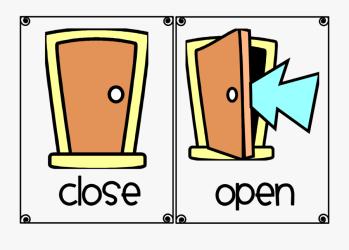 open window clip shut close worksheet clipart preschool clipartkey