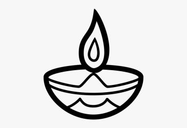 Clip Art Black Diwali Oil Lamp Clipart Black And White Free Transparent Clipart ClipartKey