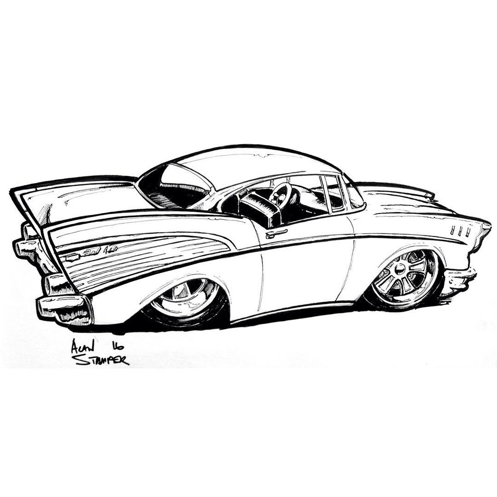 57 Chevy Drawing