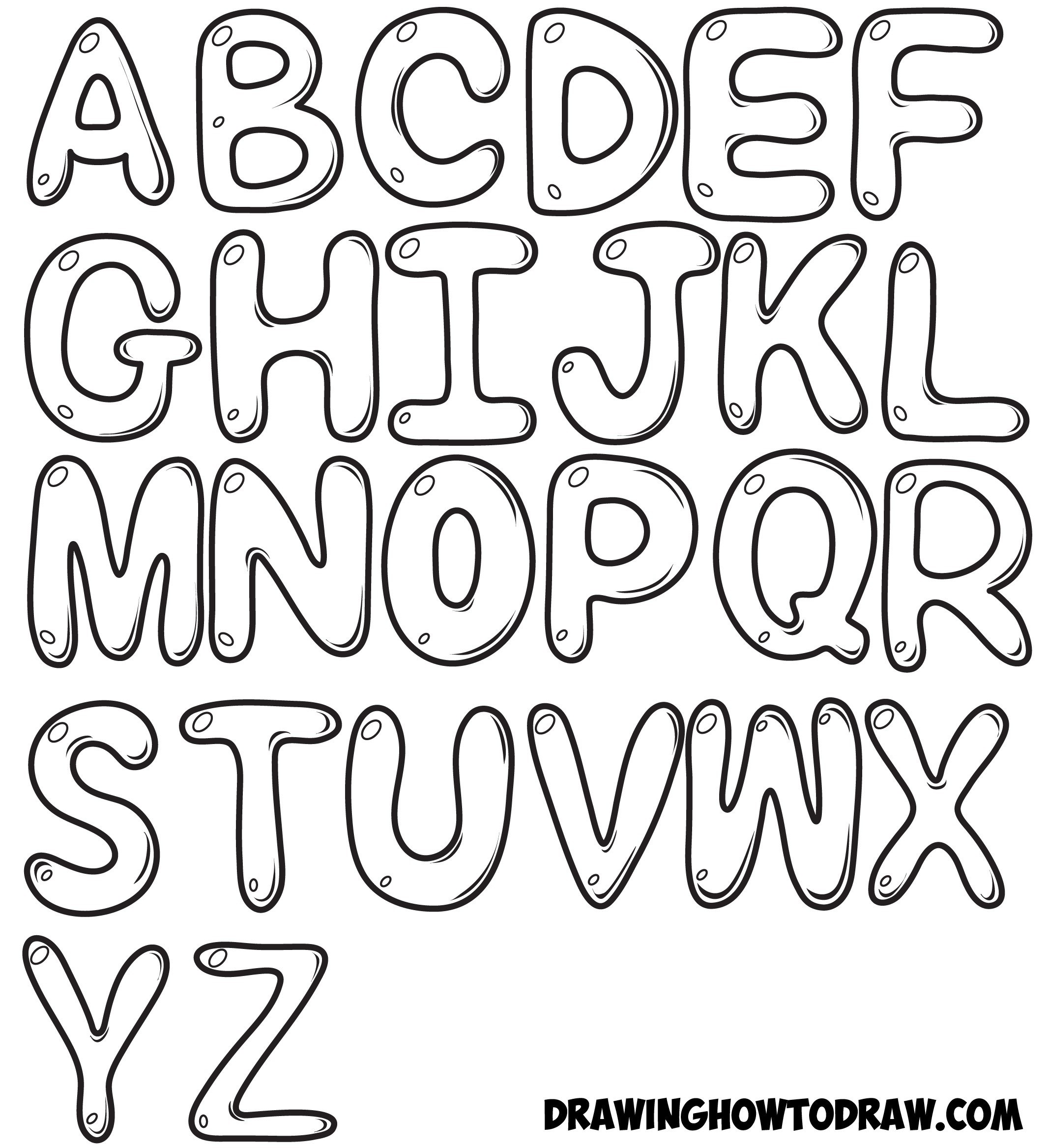Alphabet Drawing Letters