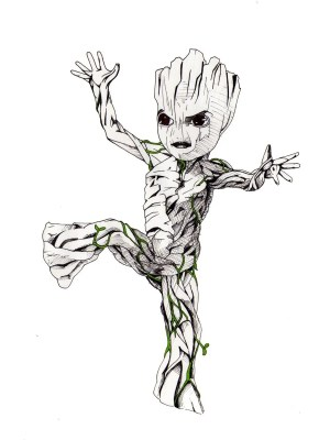 groot drawing clipartmag