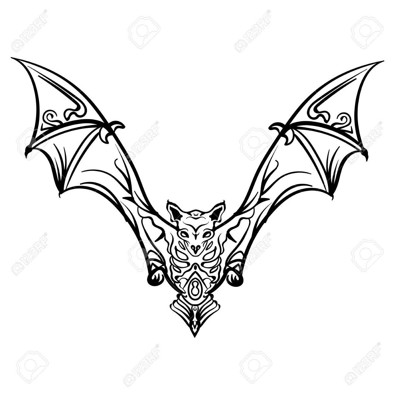 Bat Wings Drawing