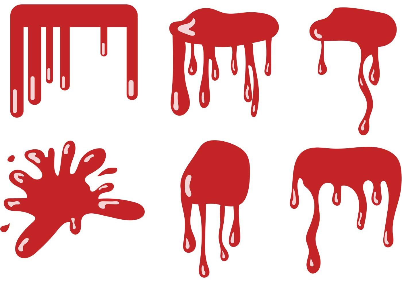 hight resolution of 1400x980 blood dripping vector set